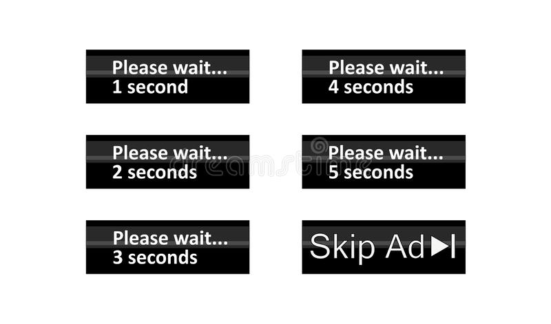 SKIP ADVERTENTIEpictogram stock illustratie