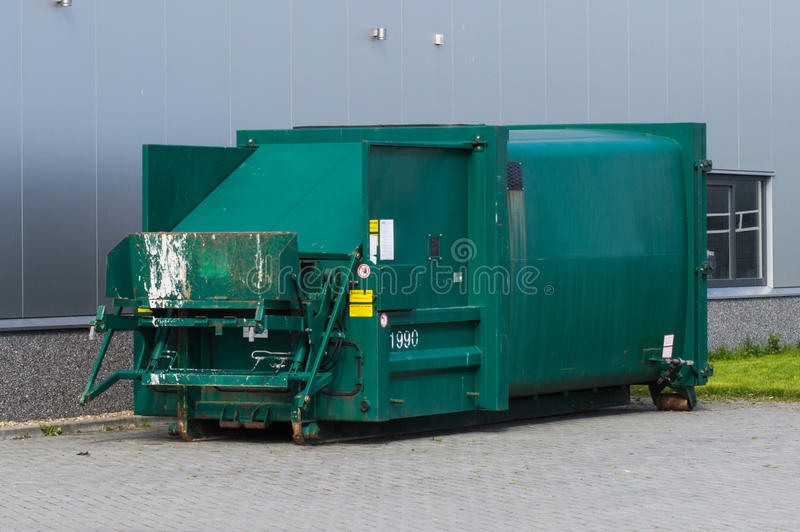 Download Skip for compressing waste stock photo. Image of container - 30672756