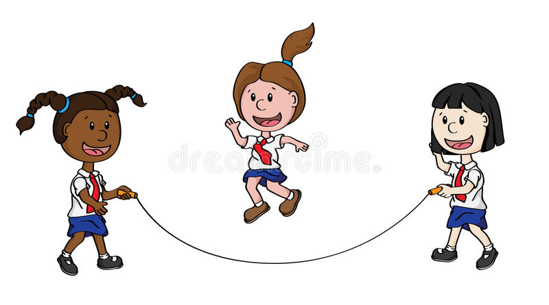Download Skipping Children stock vector. Image of cartoon, jumping - 19418817