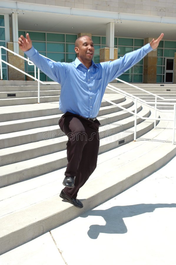 Download Skipping off Steps stock photo. Image of african, happy - 688898