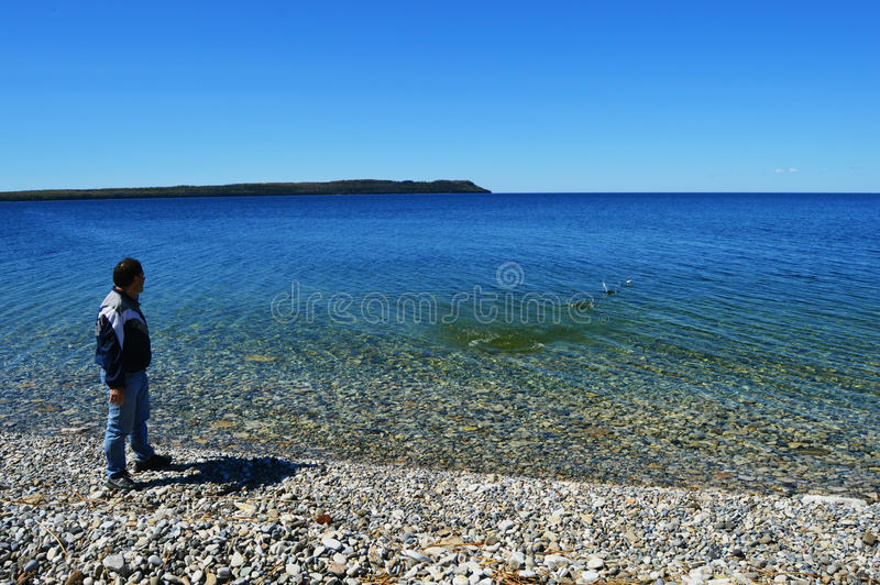 Skipping Rocks royalty free stock images