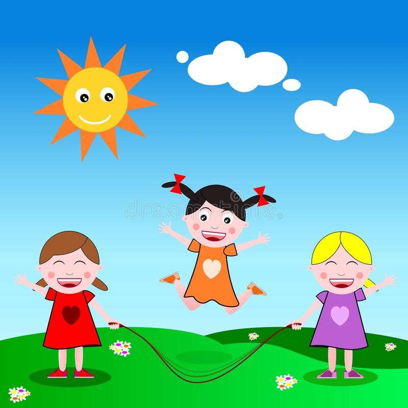 Download Skipping the rope stock illustration. Image of cartoon - 20279031