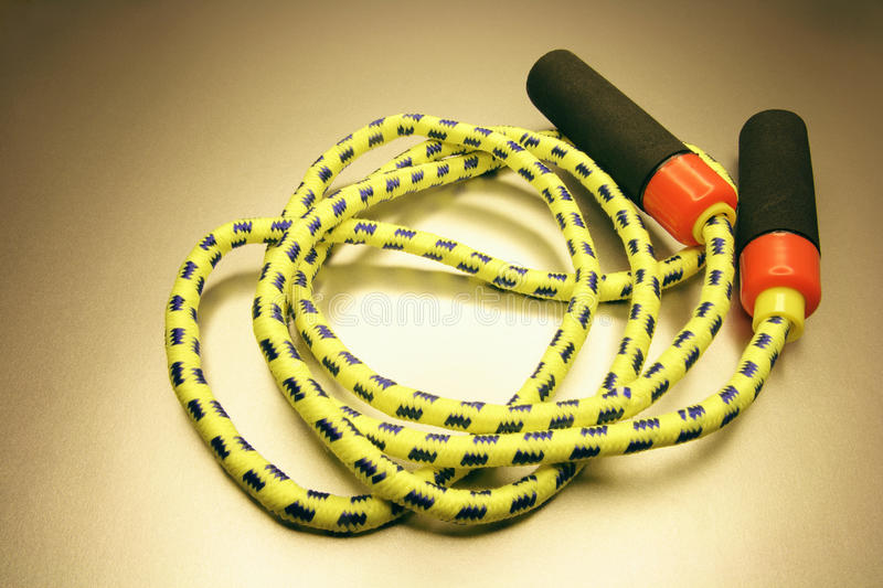 Skipping Rope. On Warm Colored Background royalty free stock photo