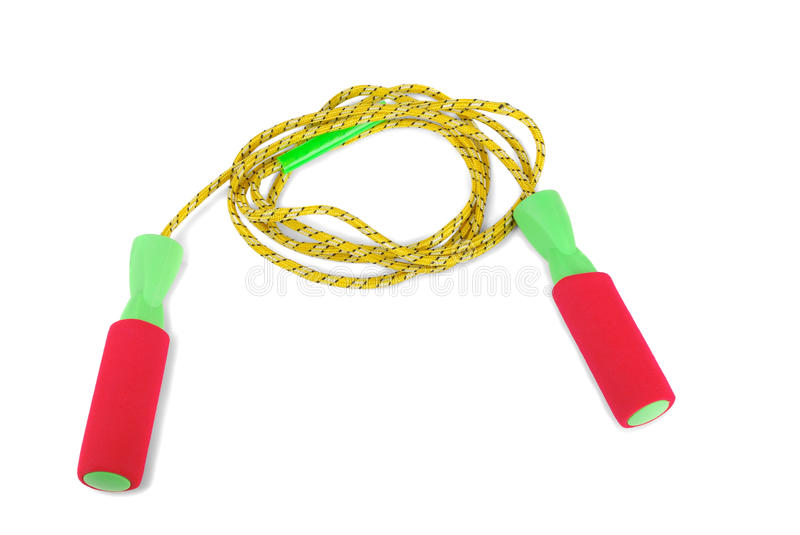Skipping rope. On a white background stock photography