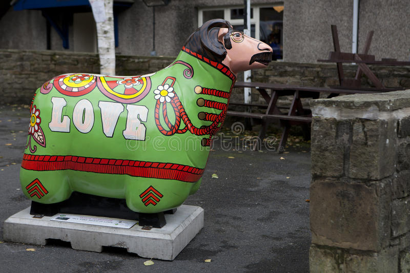 Skipton is Sheep Town from August to November 2010 stock photos
