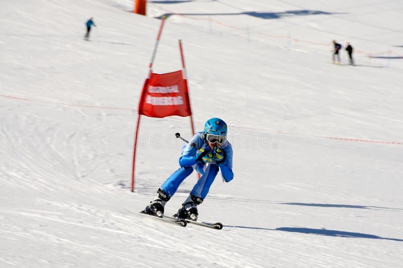 Skirennen stockfotografie