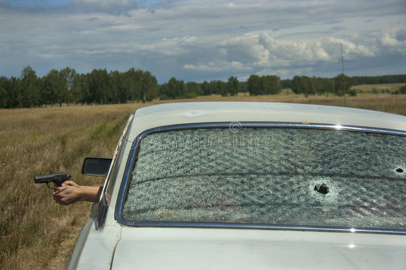 Download Skirmish, Chase And Shooting On Car Editorial Photography - Image: 23105622
