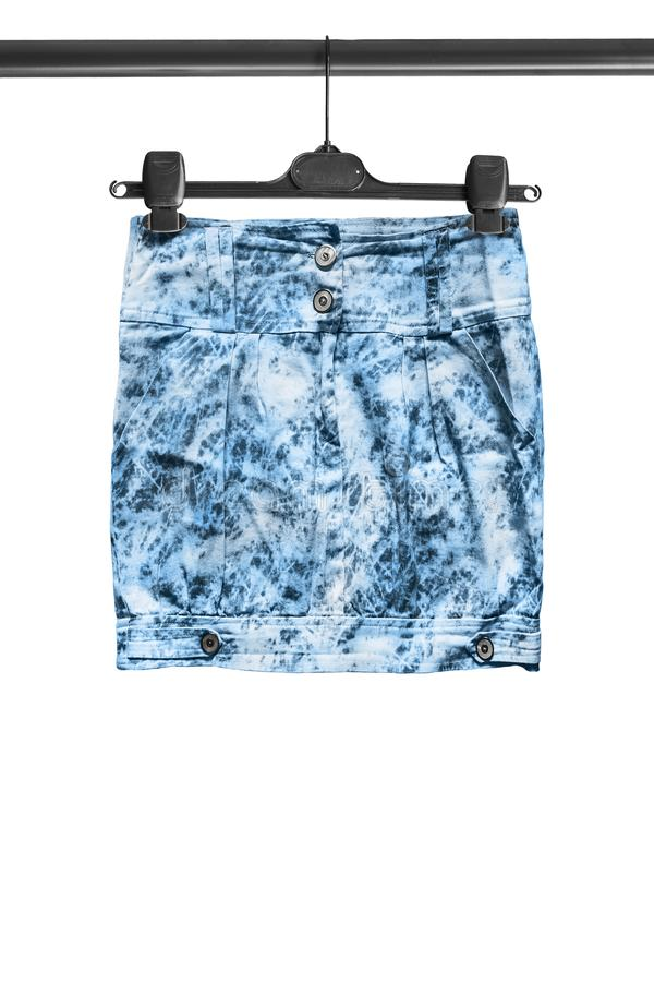 Skirt on clothes rack royalty free stock photos