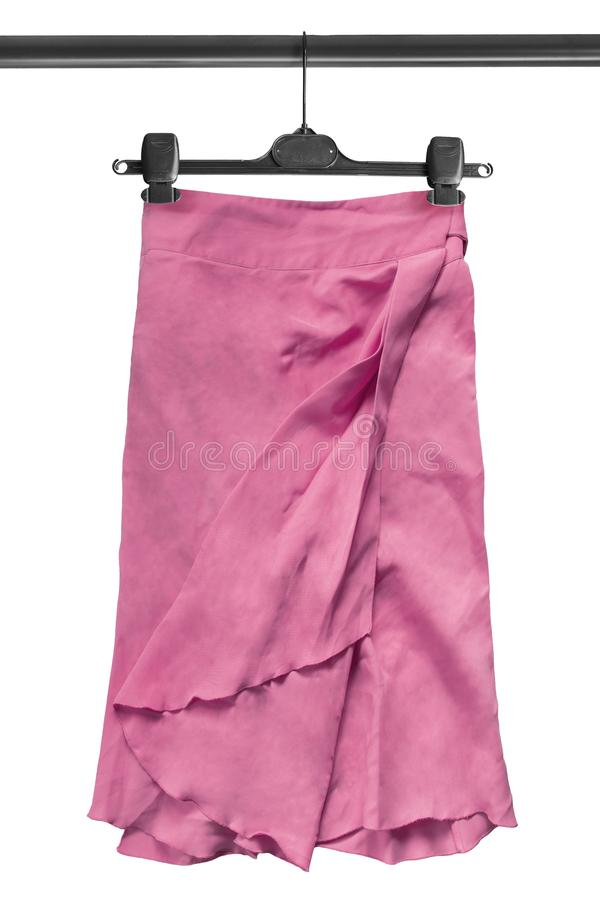 Skirt on clothes rack royalty free stock photography