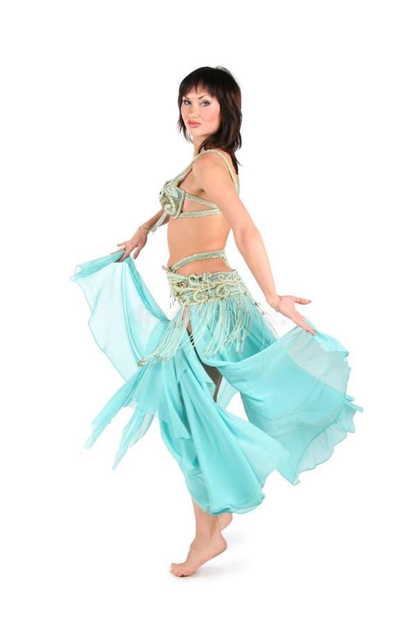 Skirt dance woman stock images