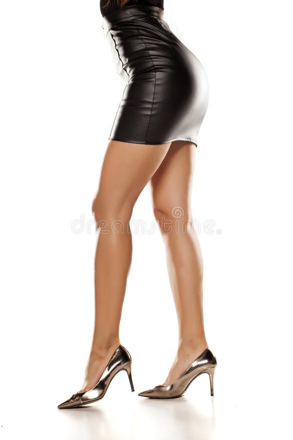 Skirt And High Heels Stock Photo Image Of Attractive
