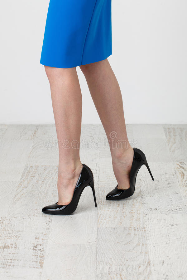 Skirt and high heels royalty free stock image