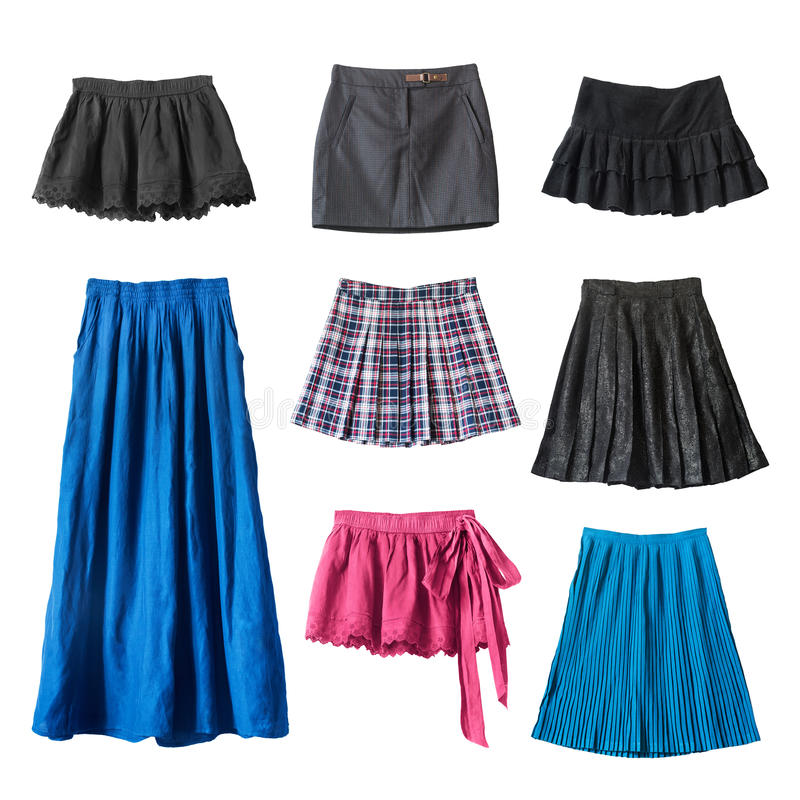 Skirts royalty free stock photos