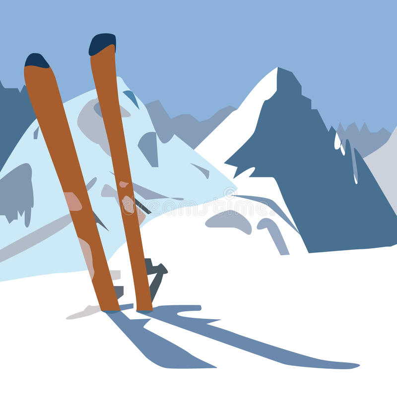 skis illustration stock