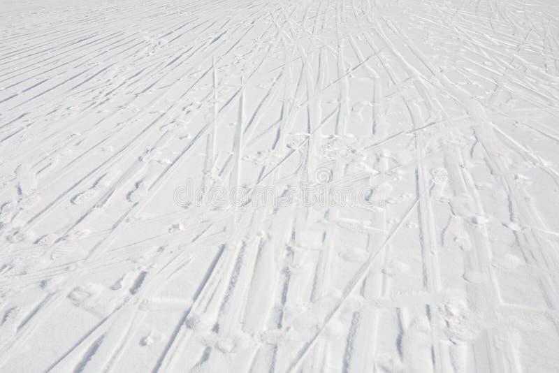 Skisporen stock afbeeldingen
