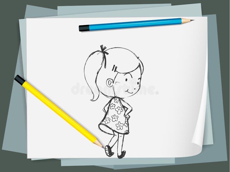 Skissa vektor illustrationer
