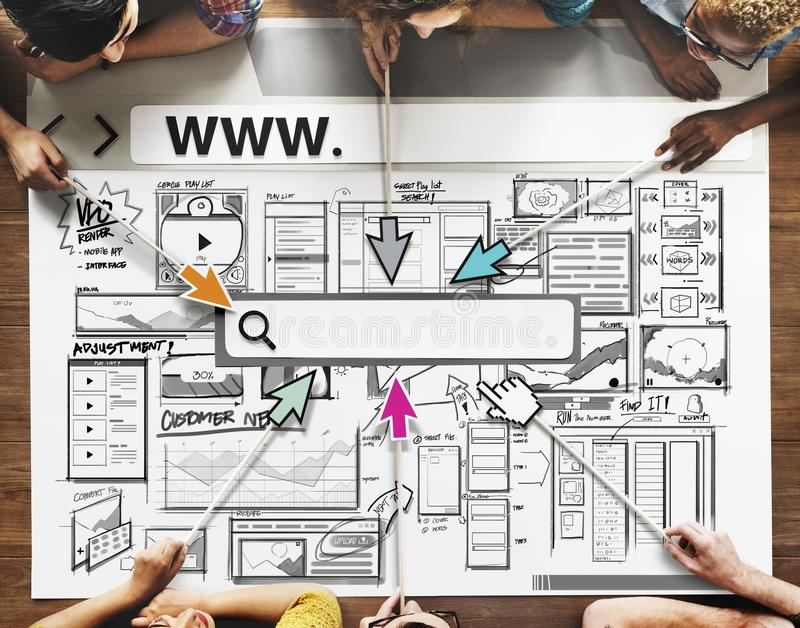 Skissa affären startar upp idésymbolen arkivbild