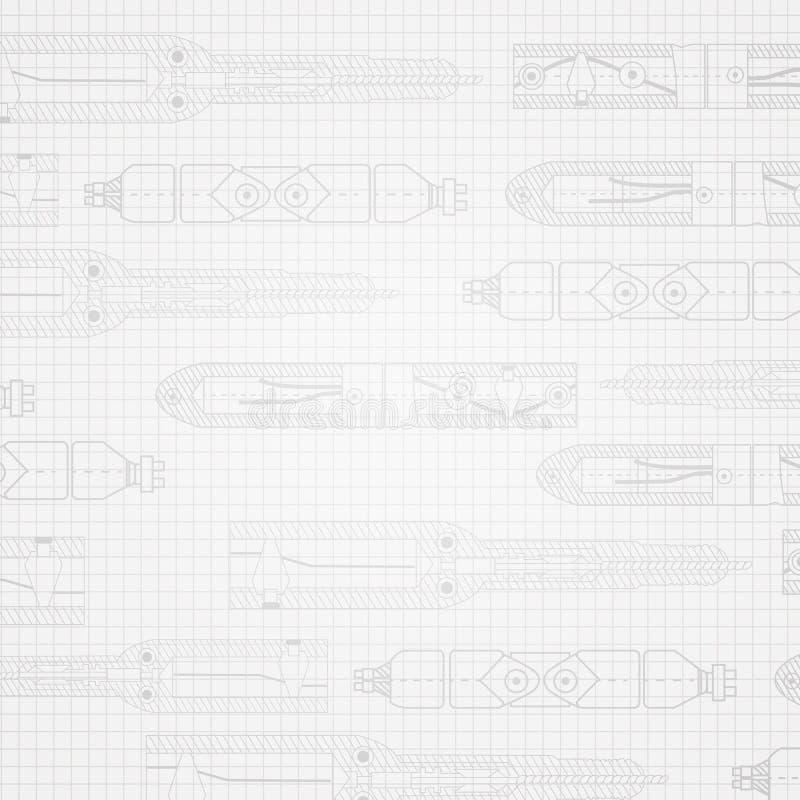 Skissa av axeln vektor illustrationer