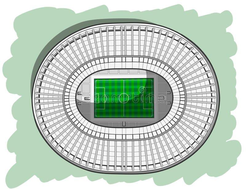 Skissa av den huvudsakliga stadion i Moskva vektor illustrationer