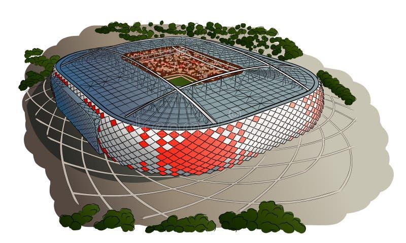 Skissa av den nya stadion i Moskva stock illustrationer