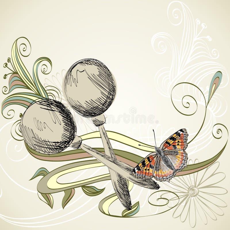 Skissa av ett musikinstrument royaltyfri illustrationer