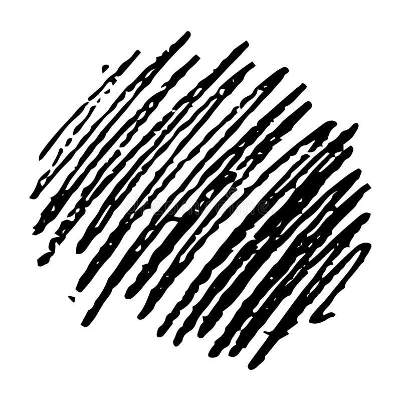 Skissa den utdragna blyertspennan för handen för att klottra fläck vektor illustrationer
