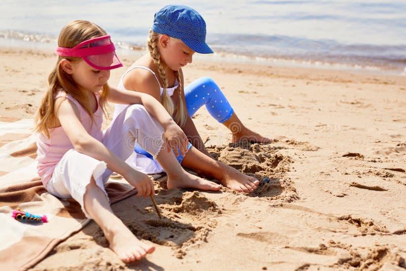 Skissa för sand fotografering för bildbyråer