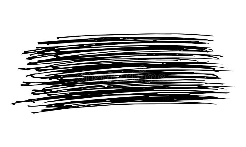 Skissa f?r att klottra suddet Utdragna blyertspennafläckar för hand stock illustrationer