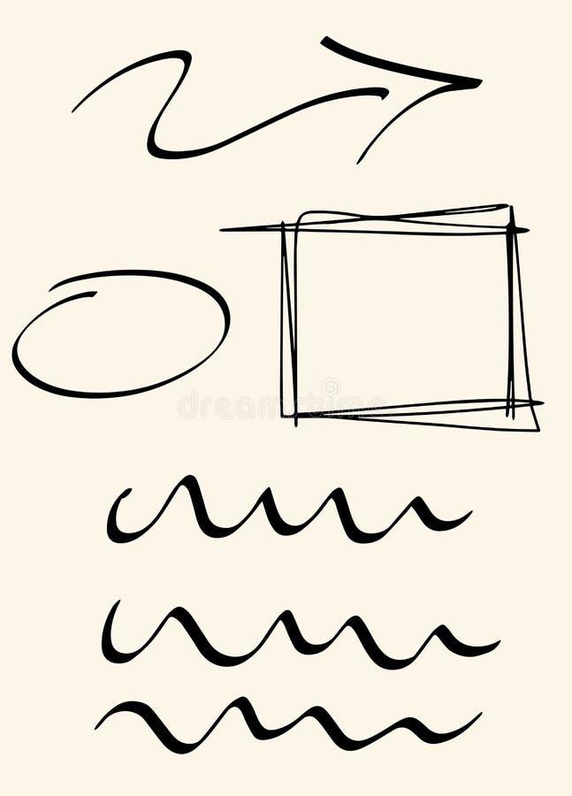 Skissa linjer arkivfoton