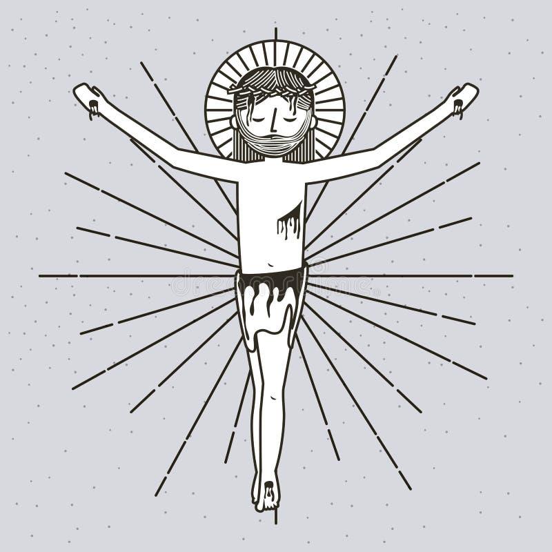 Skissa sf uppstigningen av jesus christ stock illustrationer