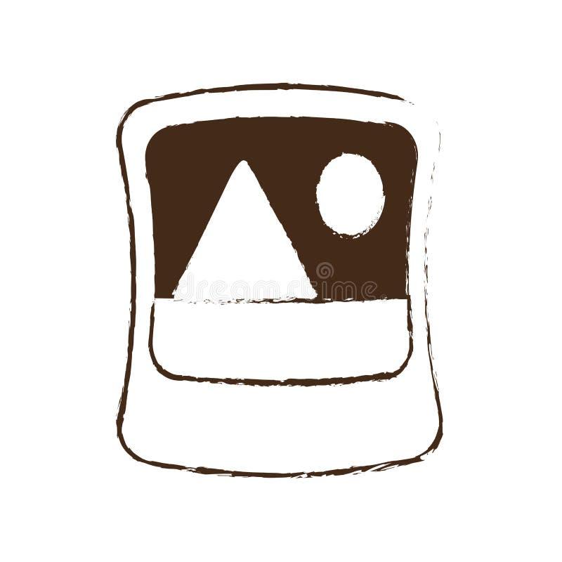 skissa symbolen för diagrammet för fotoet för attraktionbildbilden vektor illustrationer