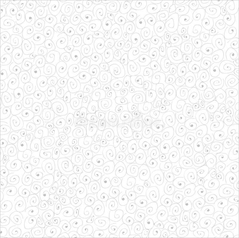 Skissa vita bakgrundsvirvlar för klotter royaltyfri illustrationer