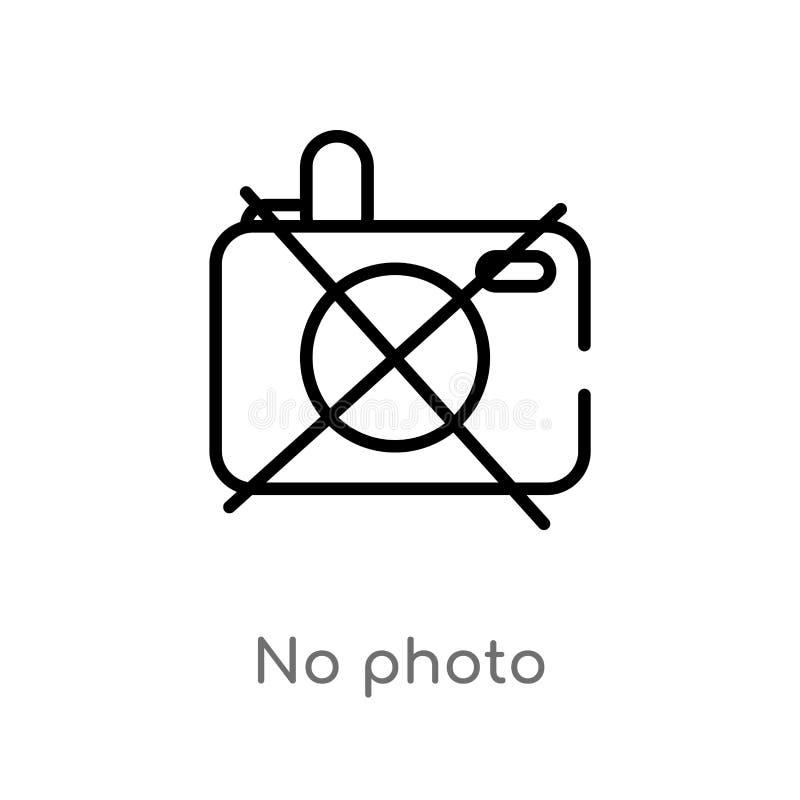 skissera ingen fotovektorsymbol isolerad svart enkel linje best?ndsdelillustration fr?n museumbegrepp redigerbar vektorslagl royaltyfri illustrationer