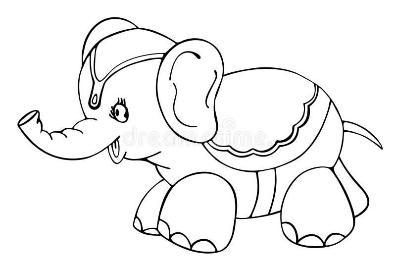 skisserad elefant royaltyfri illustrationer