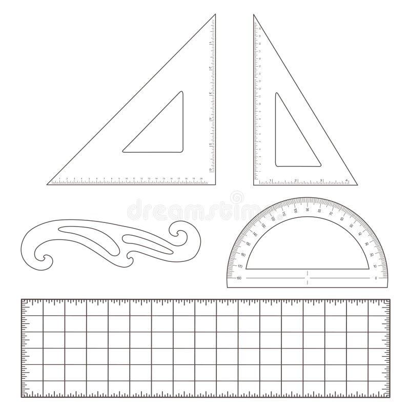 skissninghjälpmedel vektor illustrationer
