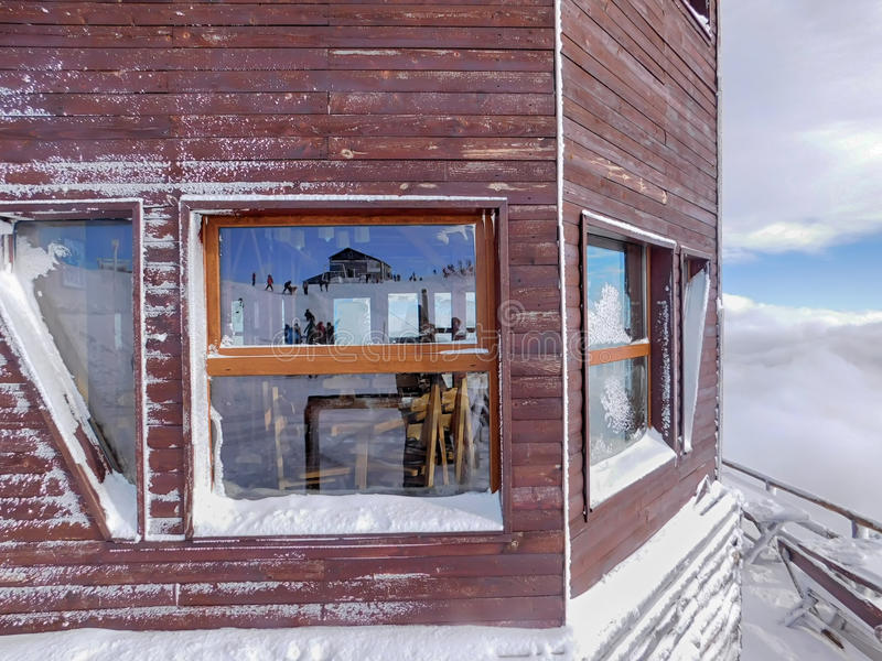 Skistation lizenzfreies stockfoto