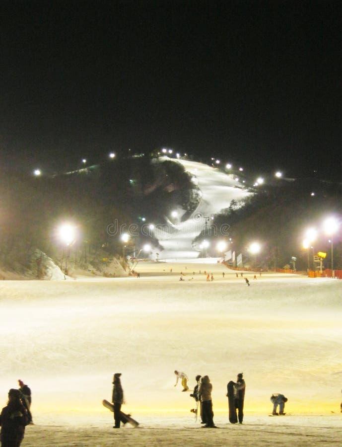 Skisteigung, Südkorea lizenzfreies stockbild