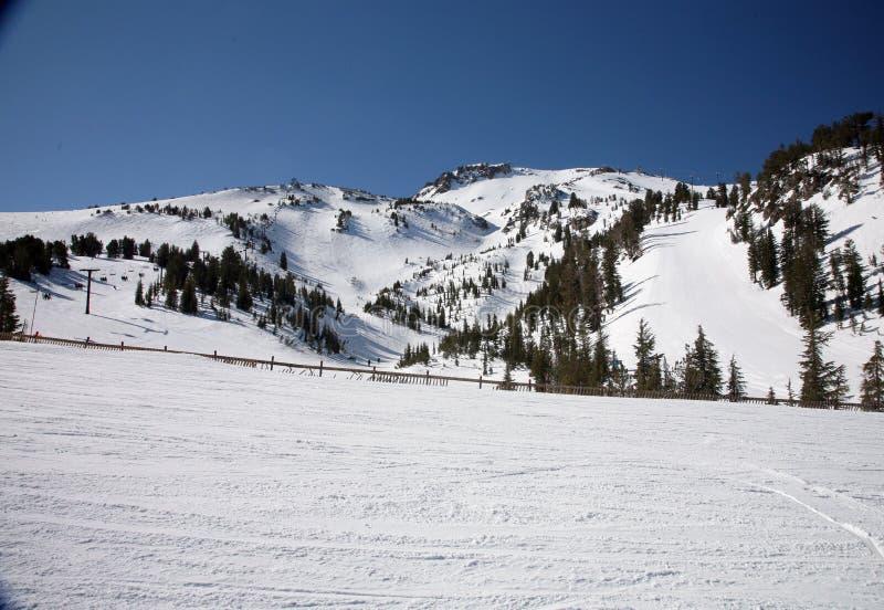 Skisteigungen stockbild