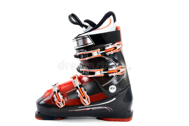 Skistiefel lizenzfreies stockbild