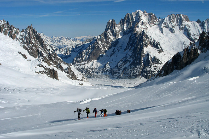 Skitouring royalty free stock images