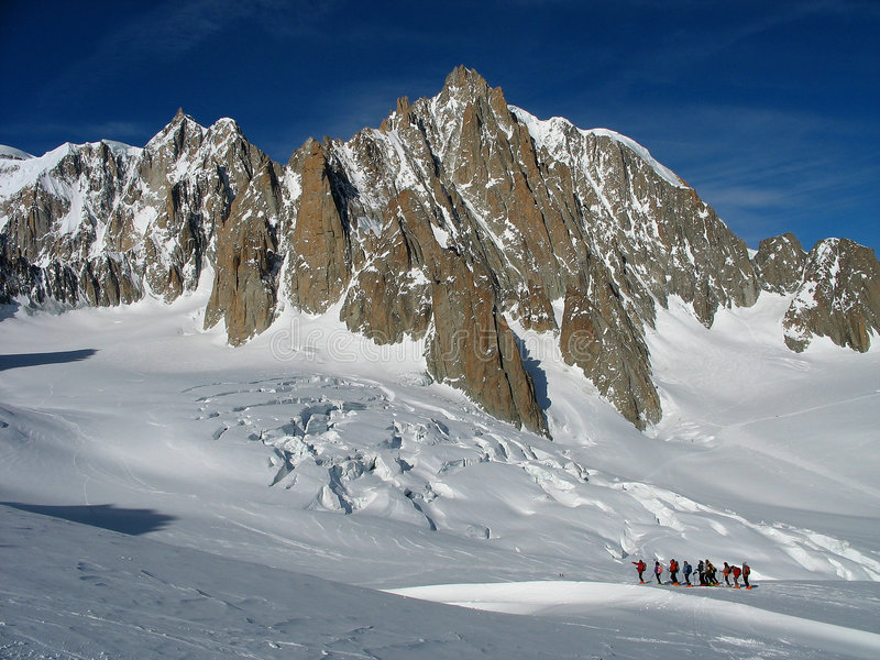 skitouring prowincji obraz stock