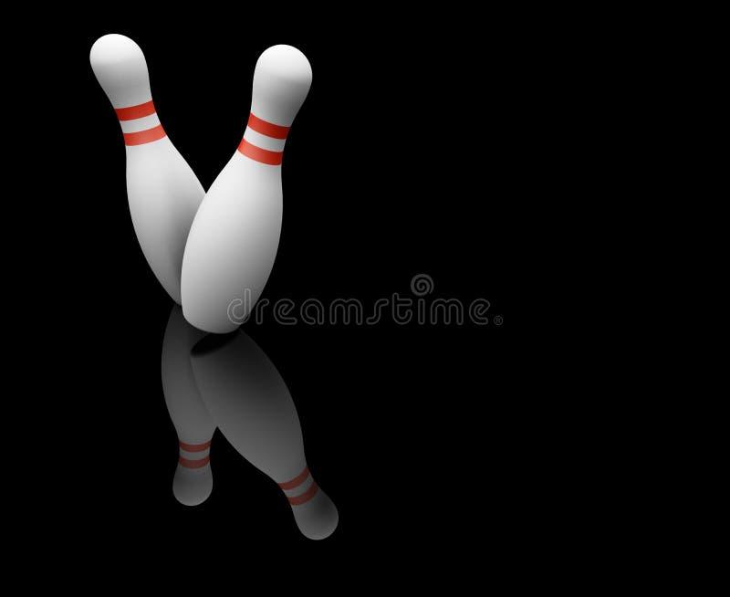 Skittles de bowling illustration stock