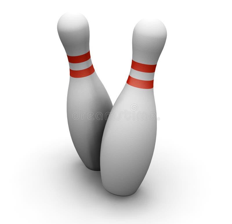 Skittles di bowling illustrazione di stock