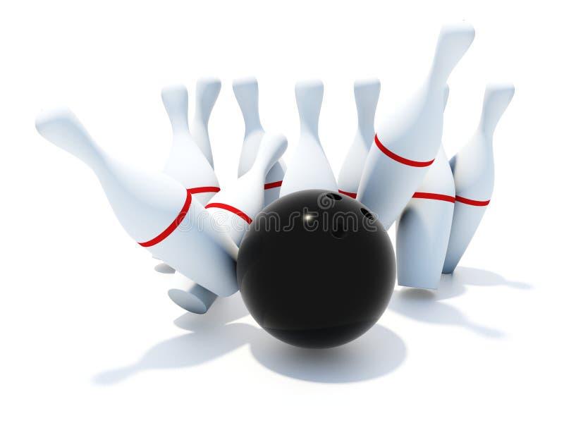 Skittles für Bowlingspiel stock abbildung