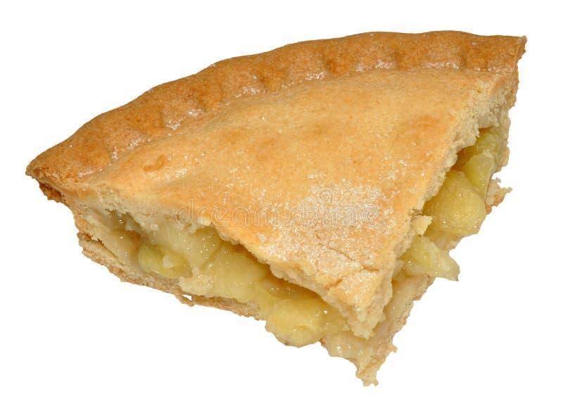 Skiva av äppelpajen royaltyfri fotografi