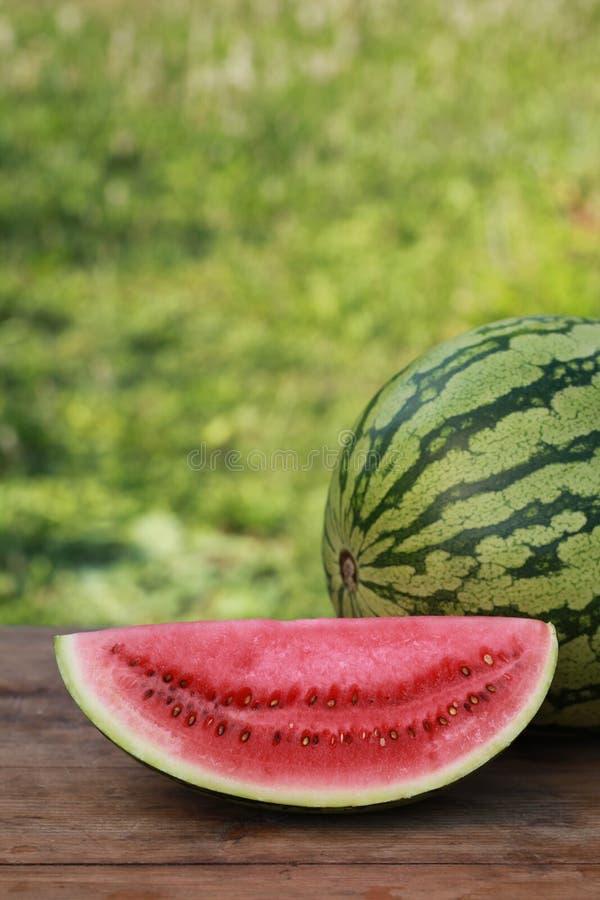 Skiva av en vattenmelon royaltyfri bild
