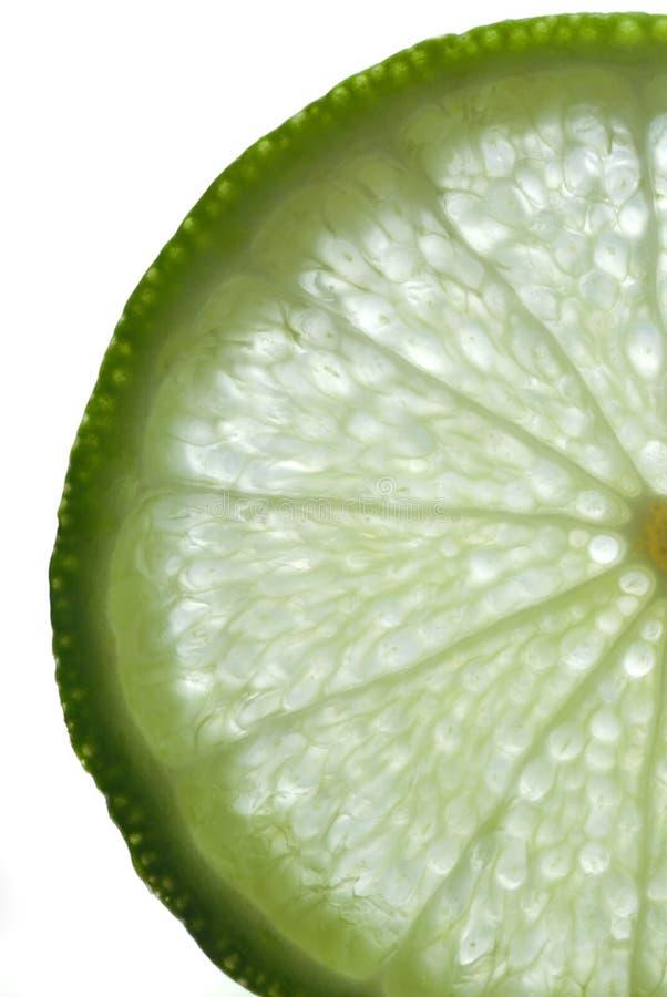 Skiva av limefrukt arkivbild