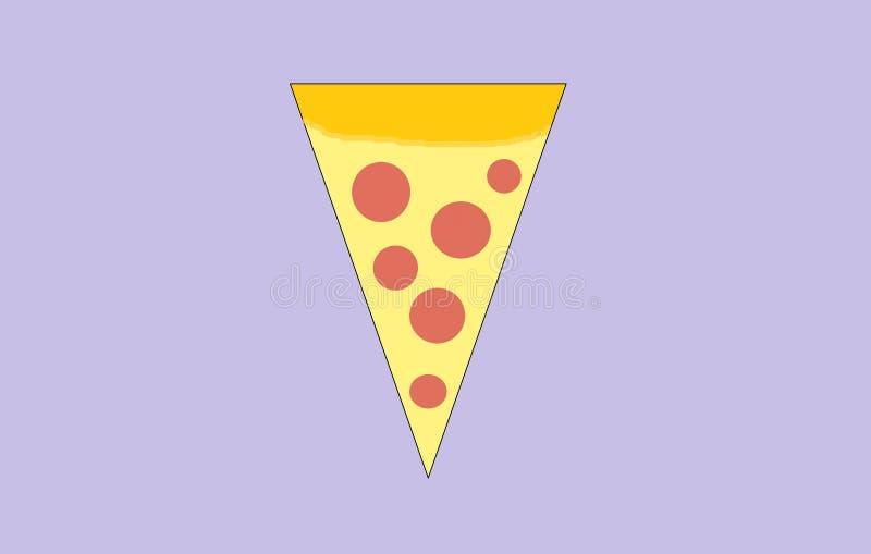 Skiva av pizza med korven och ost arkivbild