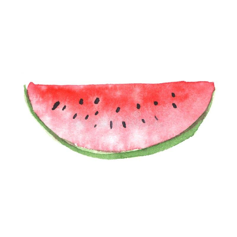 Skiva av vattenmelon royaltyfri fotografi