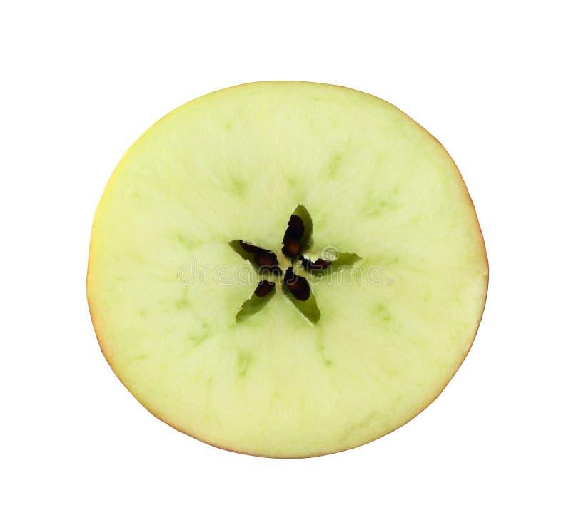 skiva för avsnitt för äpplekors röd royaltyfria bilder
